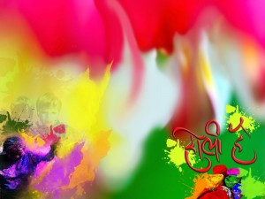 Wallpaper of Holi Festival
