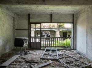 Building Inside of Hashima Island