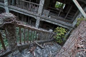 Hashima Island Building Stairs